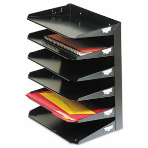 Steelmaster  Multi-Tier Horizontal Organizers, 6 Tier, Steel, Black (MMF2646HBK)