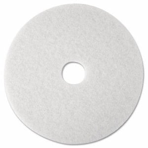 "3m Super Polish Floor Pad 4100, 12"", White, 5 Pads/Carton (MMM08476)"
