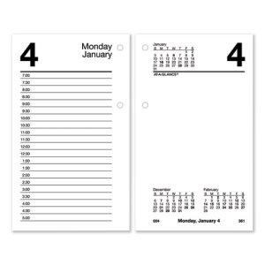 At-A-Glance Recycled Desk Calendar Refill, 3 1/2 x 6, White, 2021 (AAGE717R50)