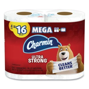 Charmin Ultra Strong 2-Ply Toilet Paper, 264/Roll, 4/Pack, 24 Rolls (PGC61134)