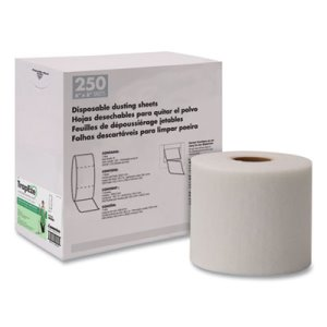 Boardwalk TrapEze Disposable Dusting Sheets, White, 1 Roll (BWK582508)