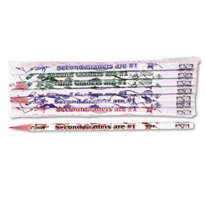 Moon Products Decorated Wood Pencil, Second Graders Are #1, Dozen (MPD7862B)