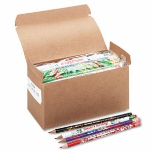 Moon Products Award Woodcase Pencil, Party Assortment, 144 per box (MPD8209)