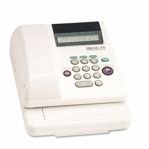 Max Electronic Checkwriter, 14-Digit, 7-7/8 x 9-5/8 x 3-5/8 (MXBEC70)