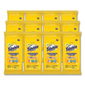 Fabuloso Complete Disinfecting Wipes, Lemon, 7 x 7, 24/Pack, 12 Packs (CPC98719)