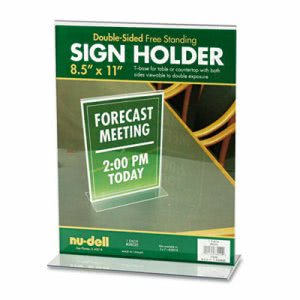 Nu-dell Acrylic Sign Holder, 8 1/2 x 11, Clear (NUD38020)