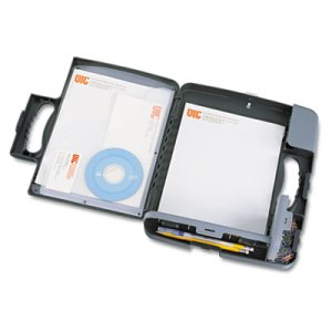 "Officemate Storage Clipboard Case, 3/4"" Capacity, 9w x 12h, Charcoal (OIC83301)"