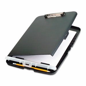 "Officemate Low Profile Storage Clipboard, 1/2"" Capacity, Charcoal (OIC83303)"