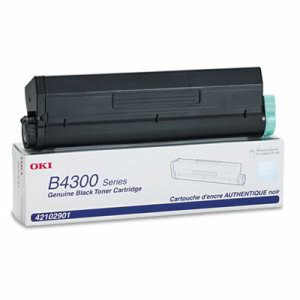 Oki 42102901 High-Yield Toner, 6000 Page-Yield, Black (OKI42102901)