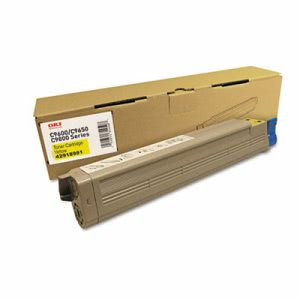 Oki 42918981 Toner Cartridge, 16500 Page-Yield, Yellow (OKI42918981)