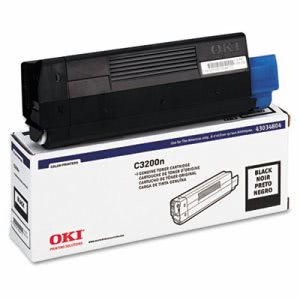 Oki 43034804 Toner (Type C6), 1500 Page-Yield, Black (OKI43034804)