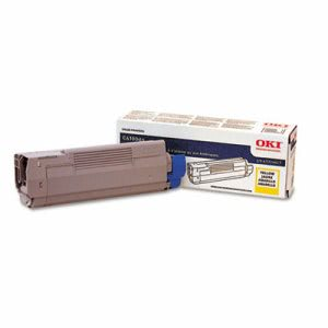 Oki 43324417 Toner, 5000 Page-Yield, Yellow (OKI43324417)