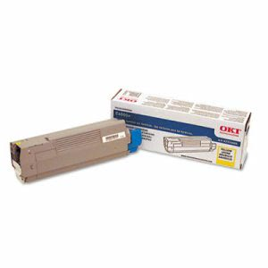 Oki 43324466 Toner, 4000 Page-Yield, Yellow (OKI43324466)