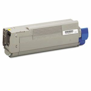 Oki 43865717 High-Yield Toner, 8000 Page-Yield, Yellow (OKI43865717)