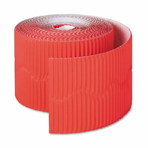 "Pacon Bordette Decorative Border, 2 1/4"" x 50' Roll, Flame Red (PAC37036)"