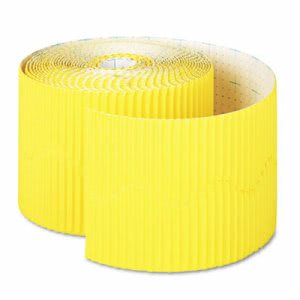 "Pacon Bordette Decorative Border, 2 1/4"" x 50' Roll, Canary (PAC37086)"