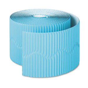 "Pacon Bordette Decorative Border, 2 1/4"" x 50' Roll, Azure Blue (PAC37166)"