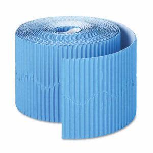 "Pacon Bordette Decorative Border, 2 1/4"" x 50' Roll, Brite Blue (PAC37176)"