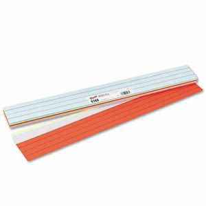 Pacon Sentence Strips, 24 x 3, Assorted Colors, 100/Pack (PAC5165)