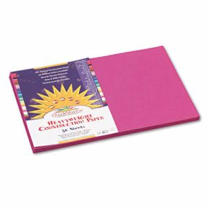 Sunworks Construction Paper, 58 lbs., 12 x 18, Magenta, 50 Sheets/Pack (PAC6407)