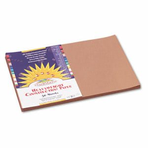 Sunworks Construction Paper, 12 x 18, Light Brown, 50 Sheets/Pack (PAC6907)