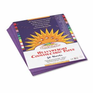 Sunworks Construction Paper, 58 lbs., 9 x 12, Violet, 50 Sheets/Pack (PAC7203)