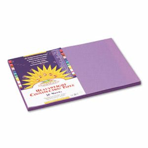 Sunworks Construction Paper, 58 lbs., 12 x 18, Violet, 50 Sheets/Pack (PAC7207)