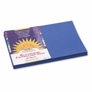 Sunworks Construction Paper, 58 lbs., 12 x 18, Blue, 50 Sheets/Pack (PAC7307)