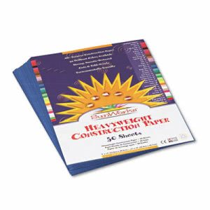 Sunworks Construction Paper, 58 lbs., 9 x 12, Blue, 50 Sheets/Pack (PAC7403)