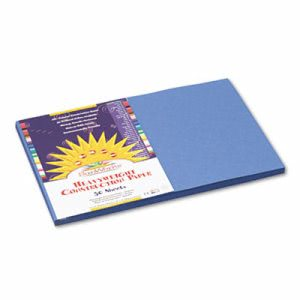 Sunworks Construction Paper, 58 lbs., 12 x 18, Blue, 50 Sheets/Pack (PAC7407)