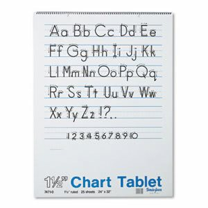 Pacon Ruled Chart Tablets w/Manuscript Cover, 24 x 32, 25 Sheets (PAC74710)