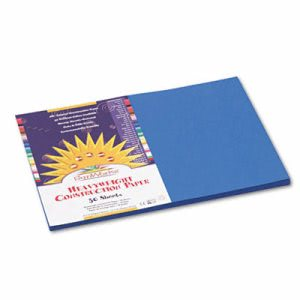 Sunworks Construction Paper, 12 x 18, Bright Blue, 50 Sheets/Pack (PAC7507)