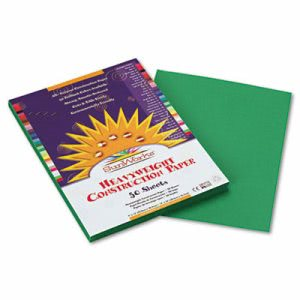 Sunworks Construction Paper, 9 x 12, Holiday Green, 50 Sheets/Pack (PAC8003)