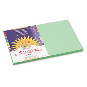 Sunworks Construction Paper,12 x 18, Light Green, 50 Sheets/Pack (PAC8107)