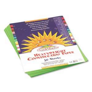 Sunworks Construction Paper, 9 x 12, Bright Green, 50 Sheets/Pack (PAC9603)
