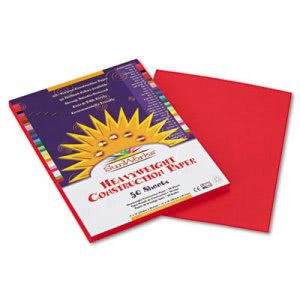 Sunworks Construction Paper, 9 x 12, Holiday Red, 50 Sheets/Pack (PAC9903)