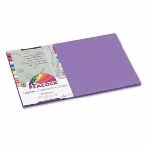 Pacon Sulphite Construction Paper, 76 lbs, 12 x 18, Violet, 50 Sheets (PACP7212)