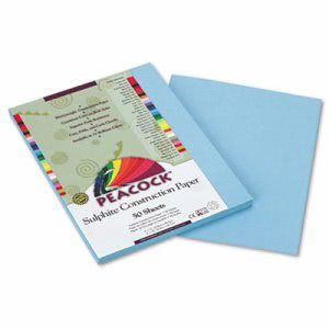 Pacon Peacock Sulphite Construction Paper, 9 x 12, Blue, 50 Sheets (PACP7609)