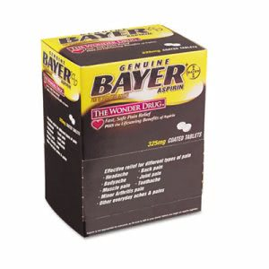 Bayer Aspirin, 50 Packet/Box(ACE 12408)