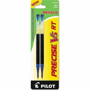 Pilot Refill for Precise Rolling Ball, Extra Fine, Blue Ink, 2/Pack (PIL77274)