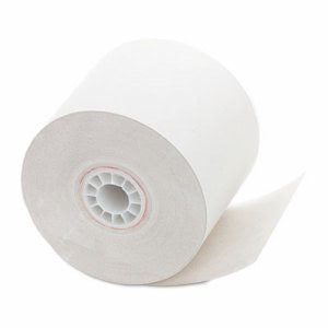"One-Ply Recycled Receipt Roll, 2 1/4"" x 150', White, 12 Rolls (PMC02835)"
