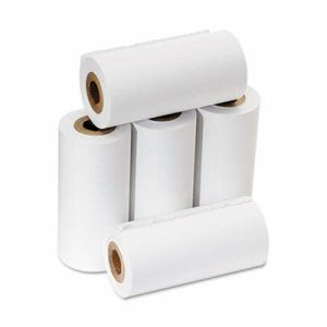 "Pm Company One-Ply Adding Machine/Calculator Rolls, 2-1/4"" x 17 ft, White, 5/Pack (PMC07622)"