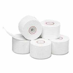 "Single-Ply Thermal Cash Register Rolls, 1-3/4"" x 150', White, 10/Pk (PMC18996)"