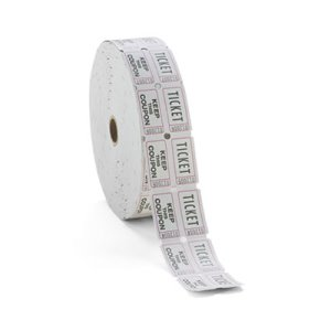 PM Company Consecutively Numbered Double Ticket Roll, 2000 Tickets (PMC59005)