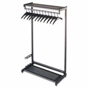 "Quartet 36"" Wide One-Sided Rack w/ 2 Shelves, 16 Hangers, Steel (QRT20225)"