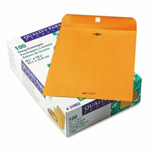 Quality Park Clasp Envelope, 9.5 x 12.5, 28lb, Brown Kraft, 100/Box (QUA37893)