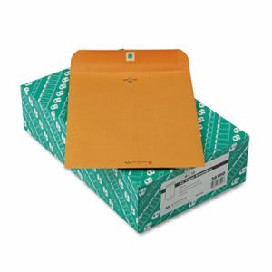 Quality Park Clasp Envelope, Recycled, 9 x 12, 28lb, Brown, 100/Box (QUA38190)