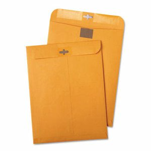 Quality Park Clear-Clasp Kraft Envelopes, 9 x 12, 100 Envelopes (QUA43568)