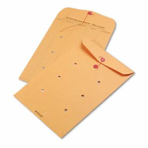Quality Park Brown String & Button Envelope, 10 x 15, 100 per Carton (QUA63564)
