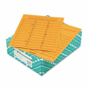 Quality Park Brown Redi-Tac Box-Style Envelope, 10 x 13, 100 per Box (QUA63666)